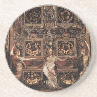 Three Foolish Virgins Flanked Adam and Eve Coaster