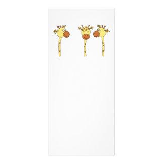 Three Giraffes Cartoon. Rack Card Template