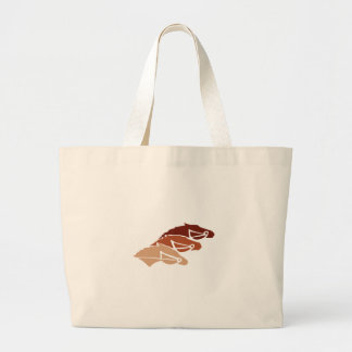 Three Horse Silhouettes Large Tote Bag