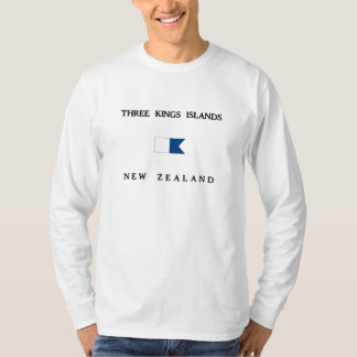 Three Kings Islands New Zealand Alpha Dive Flag T-Shirt