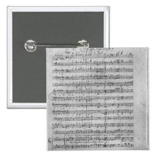 Three Lieder 15 Cm Square Badge