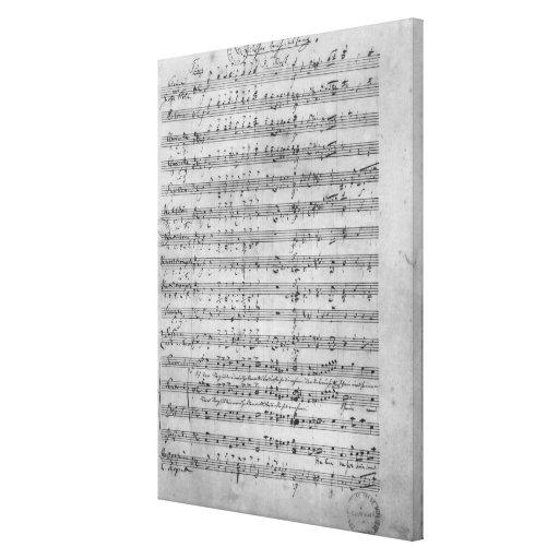 Three Lieder Gallery Wrap Canvas