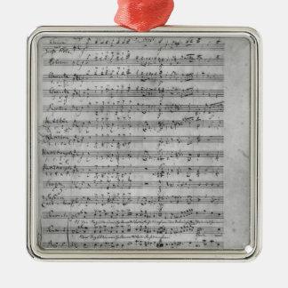 Three Lieder Silver-Colored Square Decoration