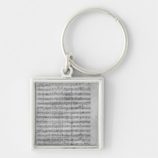 Three Lieder Silver-Colored Square Key Ring