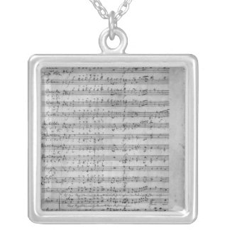 Three Lieder Square Pendant Necklace