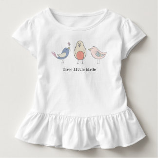 Three Little Birds Ruffled Toddler Tee