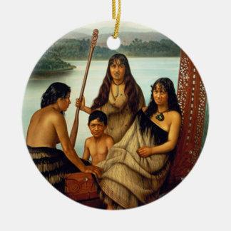 'Three Maori Girls and a Boy' - Lindauer Christmas Ornament