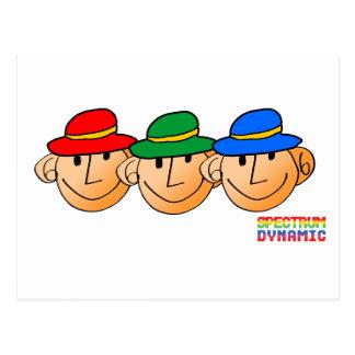 Three Men Three Hats Post Cards