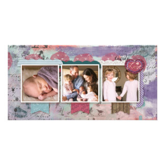 Three Photo Scrapbook Design Photo Customised Photo Card