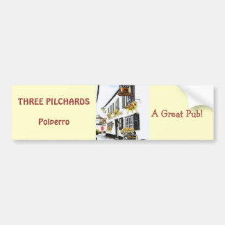 'Three Pilchards' Bumper Sticker Car Bumper Sticker