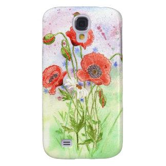 'Three Poppies' Vivid Case Samsung Galaxy S4 Cover