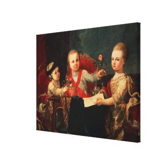 Three Princes, Children of Charles III Canvas Print