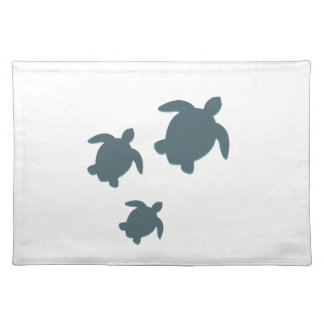 Three Sea Turtles Swimming Together Placemat