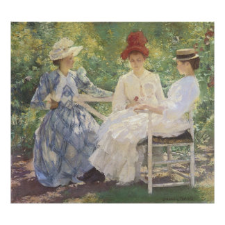 Three Sisters, Edmund Charles Tarbell Poster