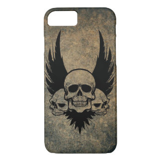 Three Skulls and Feathers iPhone 7 case