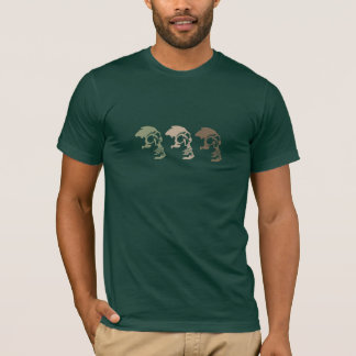 Three Skulls Go Commando T-Shirt