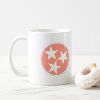 Three Star Tennessee State Flag mug in Pink