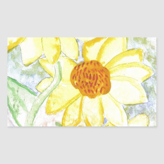 Three Sunflowers Rectangular Sticker