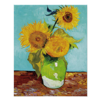Three Sunflowers | Vincent Van Gogh Poster