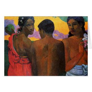 'Three Tahitians' - Paul Gauguin Note Card