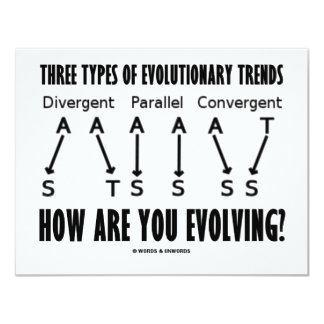 Three Types Of Evolutionary Trends (Evolution) Announcement