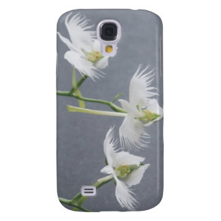 Three White Egret Orchids Galaxy S4 Case