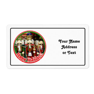 Three Wise Crackers - Nutcracker Soldiers Shipping Label