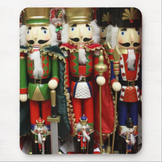 Three Wise Crackers - Nutcracker Soldiers Mouse Pad