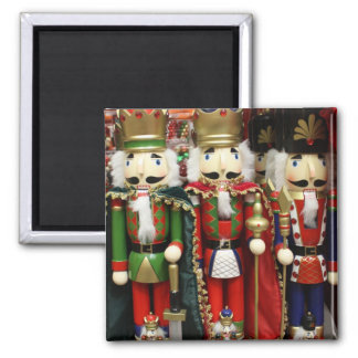 Three Wise Crackers - Nutcracker Soldiers Square Magnet