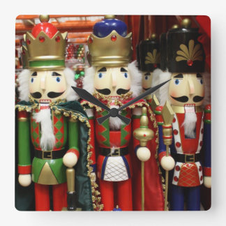 Three Wise Crackers - Nutcracker Soldiers Wall Clocks
