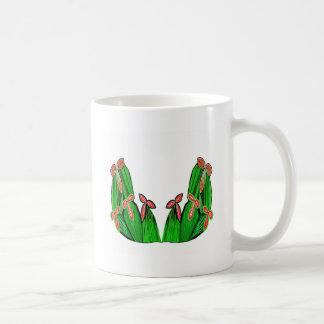 Threme Green - Exotic CACTUS Flowers Coffee Mugs