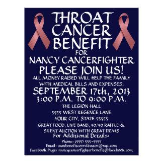 Throat Cancer Ribbon Benefit Flyer