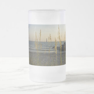 Through The Sea Oats Frosted Glass Mug