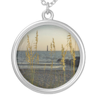 Through The Sea Oats Round Pendant Necklace