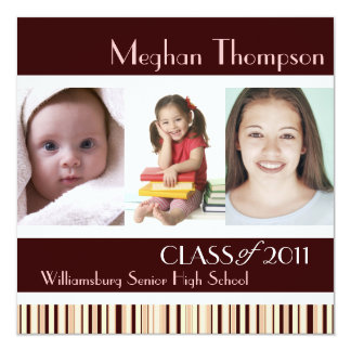 Through the Years Graduation Party Invitation