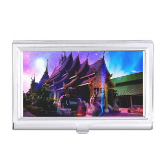 Through Time and Space Business Card Holder