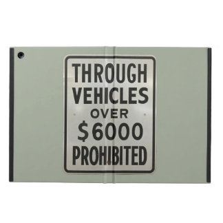 through vehicles prohibited iPad air cover