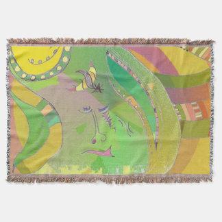 Throw Blanket Abstract Ethnic Roots Art Design