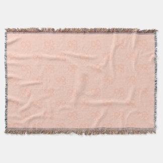 Throw Blanket, Coral Dandelion Design