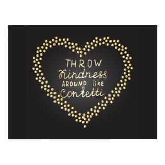 Throw Kindness Around Like Confetti Postcard