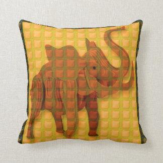 Throw Pillow KIDS love elephant animal woodcraft