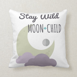 Throw Pillow - Stay Wild, Moon Child - Home Decor