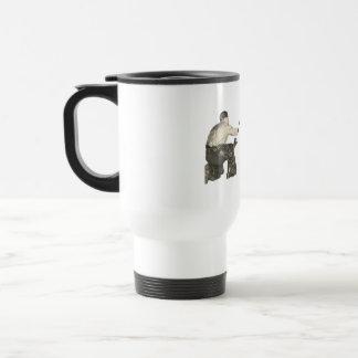 throwing knife at tot stainless steel travel mug