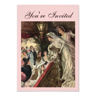 "Throwing the Bouquet 5"" X 7"" Invitation Card"