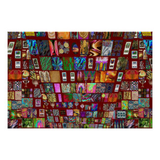 ThumbNAIL Collage -  Artistic Vintage Collection Print