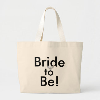 thumbnailCARVAIYH, Bride, to, Be! Large Tote Bag