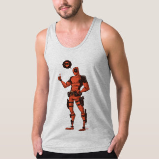 Thumbs Up Deadpool With Emote Singlet