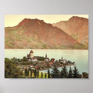 Thun, Lake of, Spiez, Bernese Oberland, Switzerlan Poster