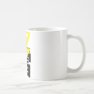 Thunder fret letter coffee mug