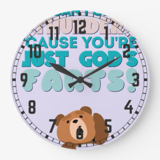 Thunder You're Just God's Farts! Wallclock